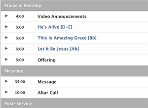Building Themed Worship Sets